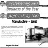 City of Wyndham Business of the year 2002 - Wagners Fine Foods